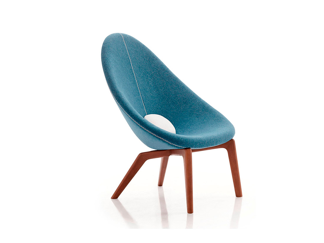 Delta armchair blue