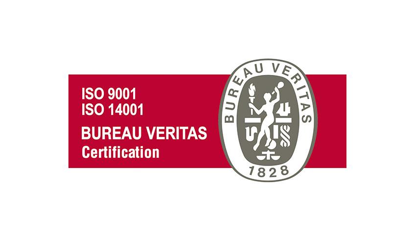 Logo iso 9001 - 14001 Bureau Veritas