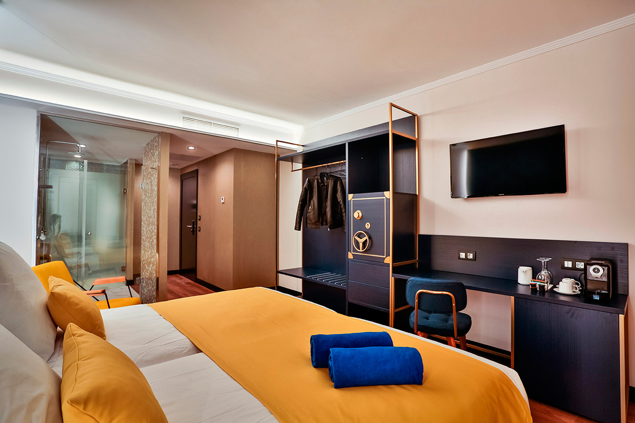 Hotel Bex, proyecto contract de interiorismo.