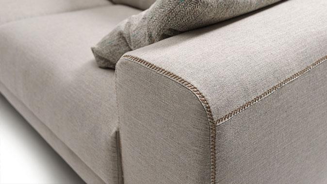 foto detalle costura de sofá