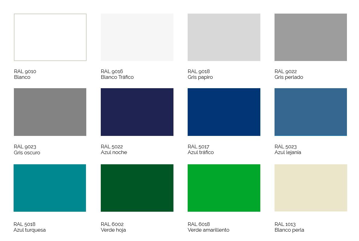 Catálogo de colores para costuras decorativas