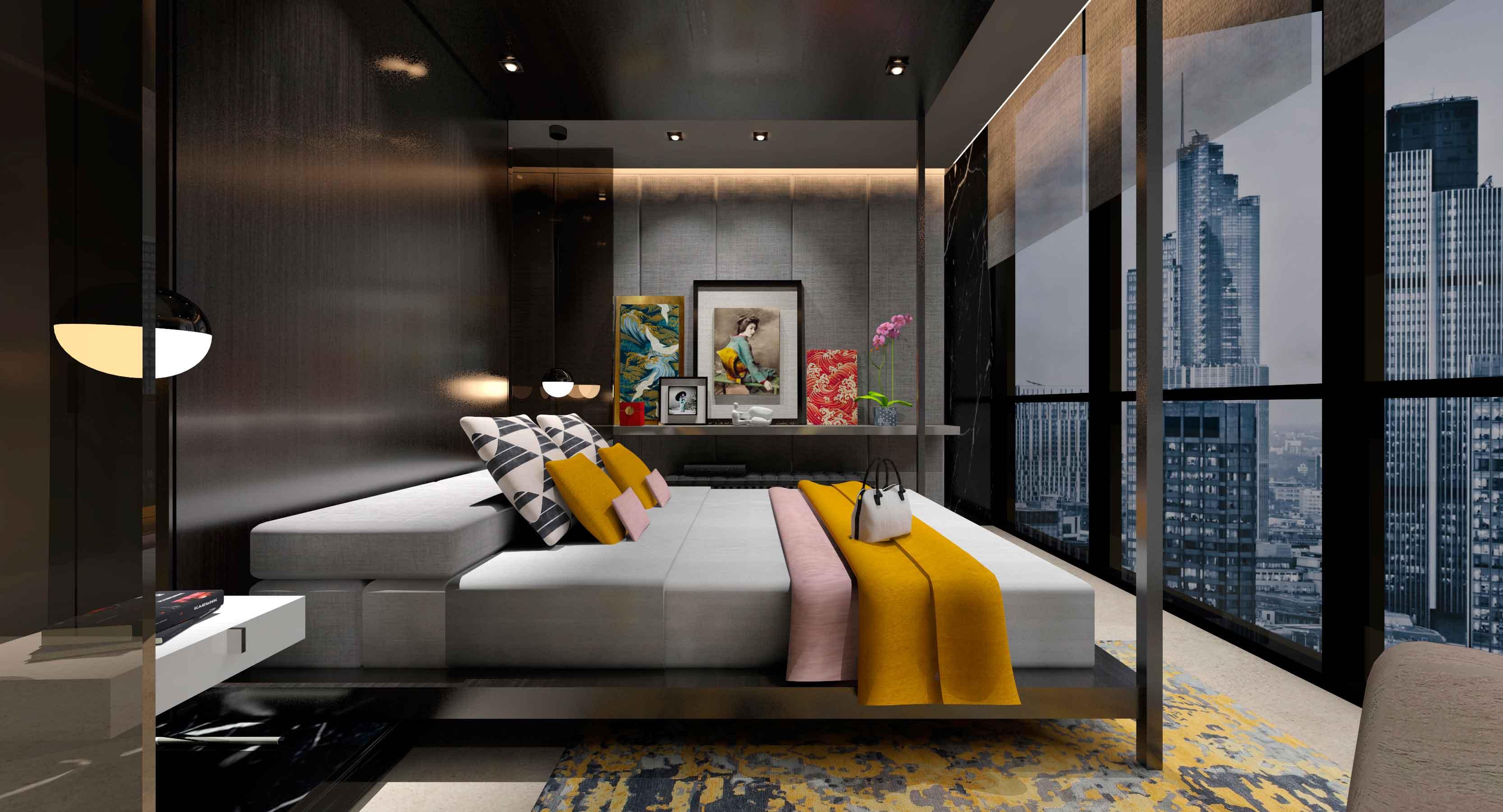 Habitación para hotel del proyecto Cosmópolis ganador de InterCIDEC 2017
