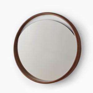 Espejo pared SKON L madera nogal