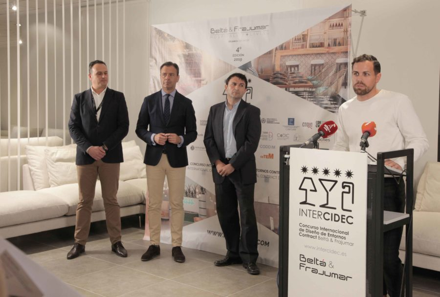 Durante la rueda de prensa en la presentación InterCIDEC 2019