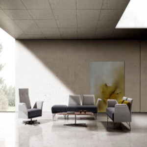 Butacas contemporaneas gris en salon hogar diseño