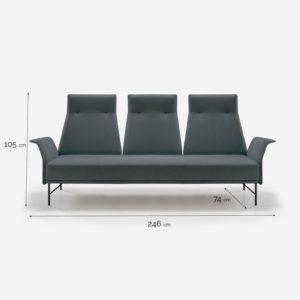 LUKA 3B sofá
