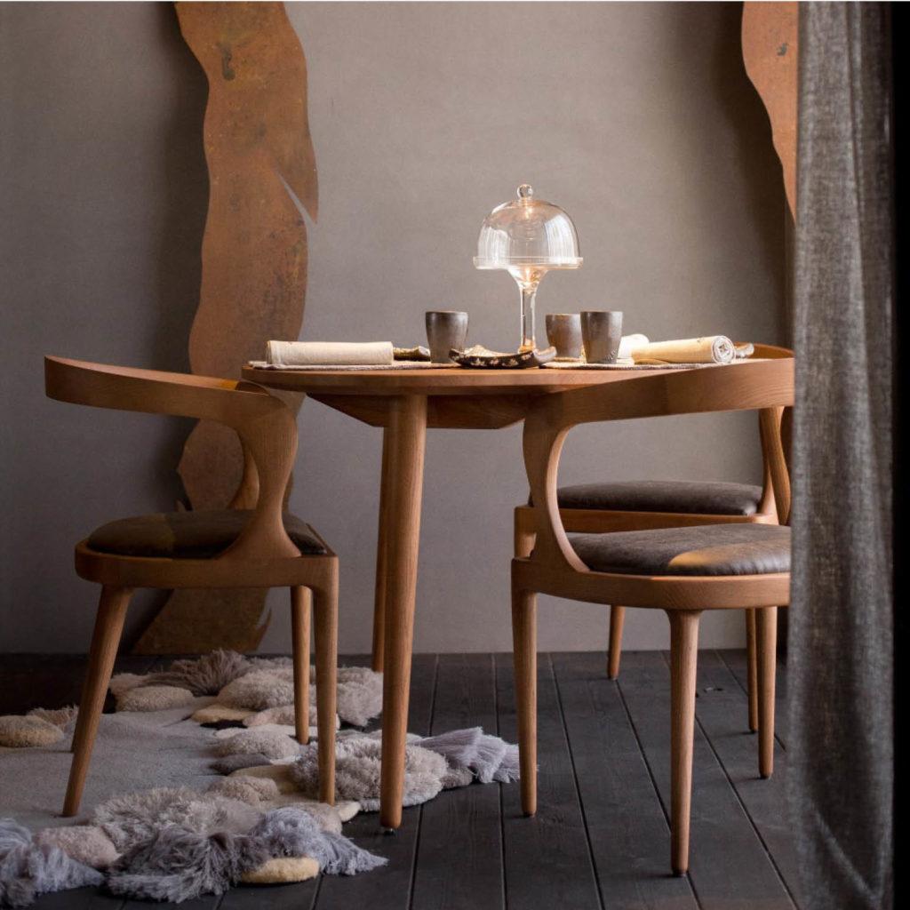 BAZK silla de madera
