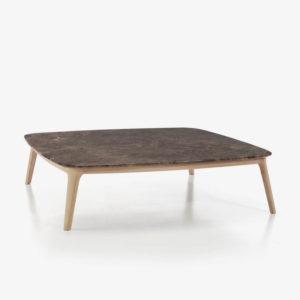 EVEN mesa centro marmol marron imperial