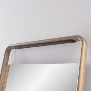 Espejo de madera GORK acabado en roble