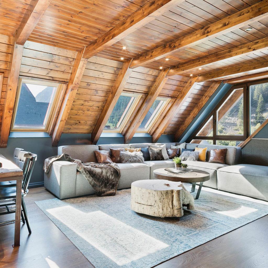 decoracion sofá para apartamento rústico