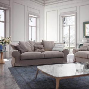 mobiliario sofá y mesa Belta Frajumar