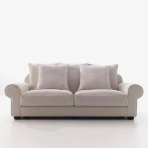 Sofá MUSA con cojines tapizado luca 6669