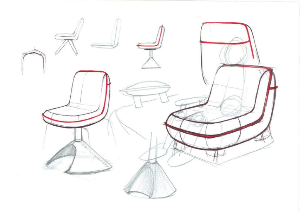 boceto silla thin
