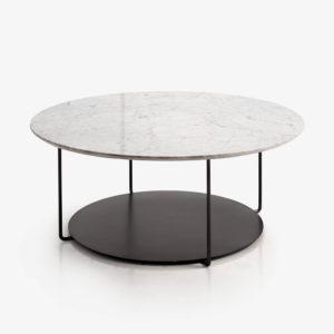 DOMO mesa centro acabado marmol blanco