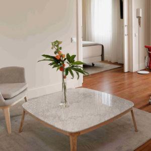 EVEN mesa marmol blanco en salon