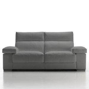 Emuc Sofá tapizado tela LUCA gris oscuro