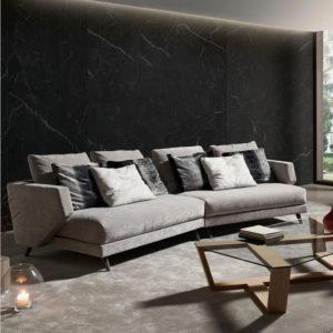 Sofá ERIK tapizado gris claro Belta Frajumar