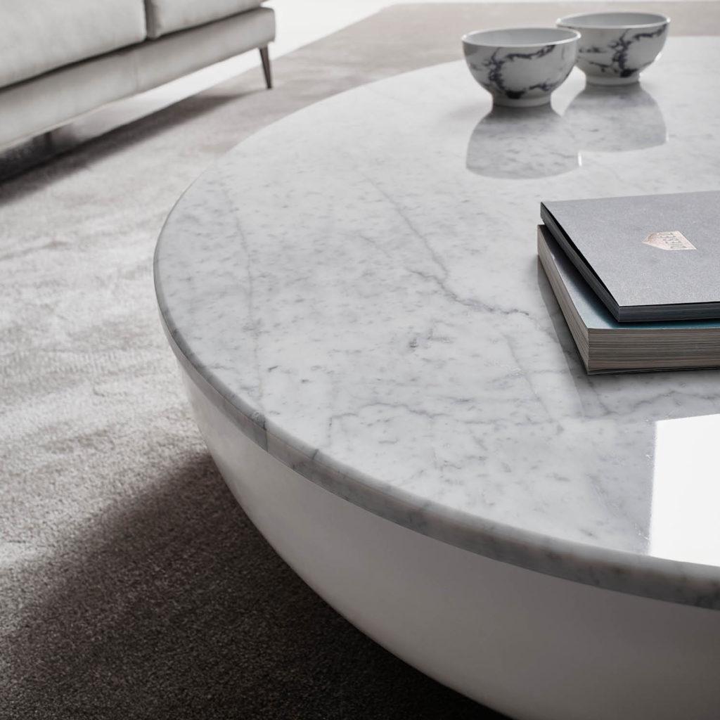 mesa de marmol luna blanco