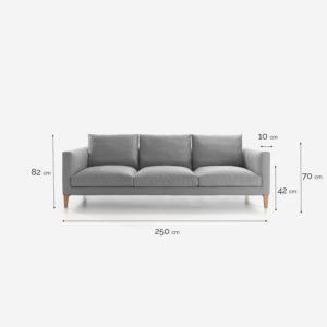 sofa con cotas-tela luca-6660-acabado roble