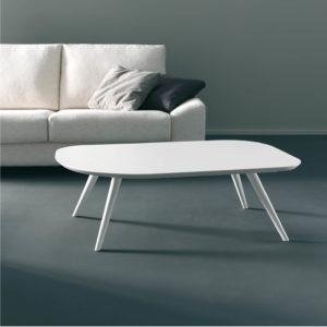 ALO mesa auxiliar centro acabado madera blanco