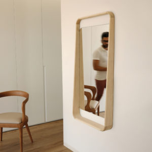 espejo de madera skon